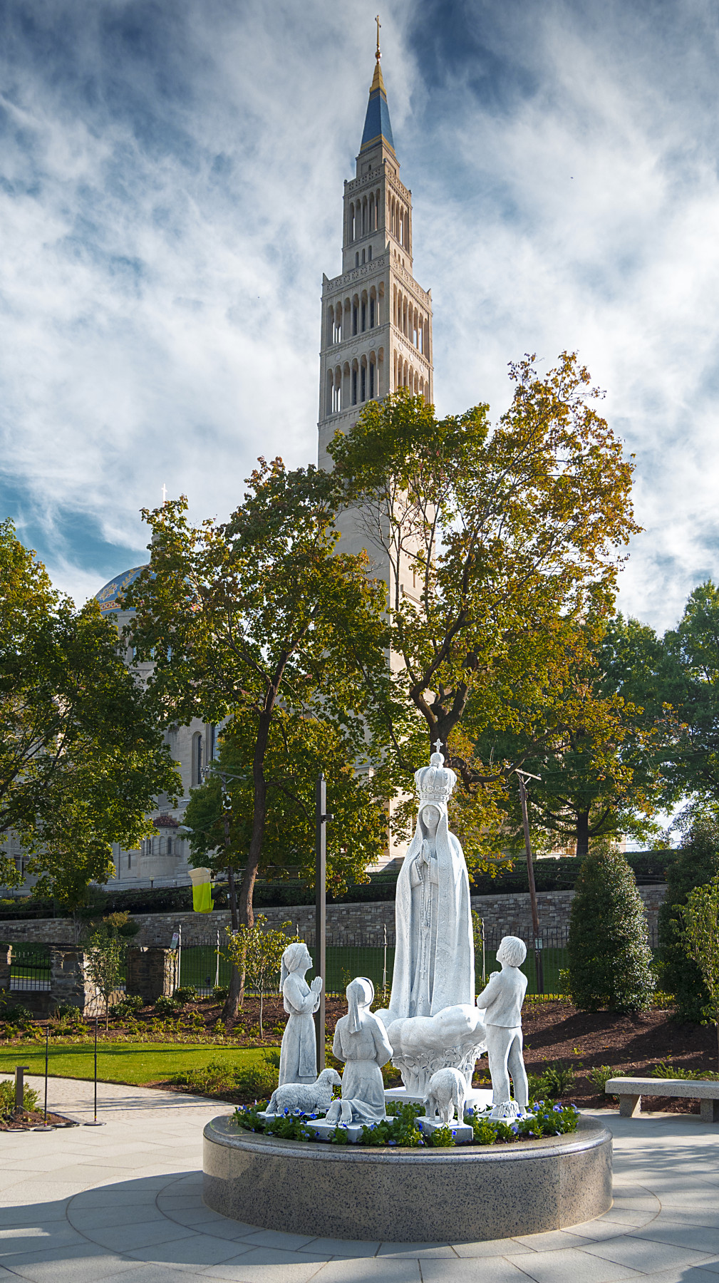 Rosary Walk statue front