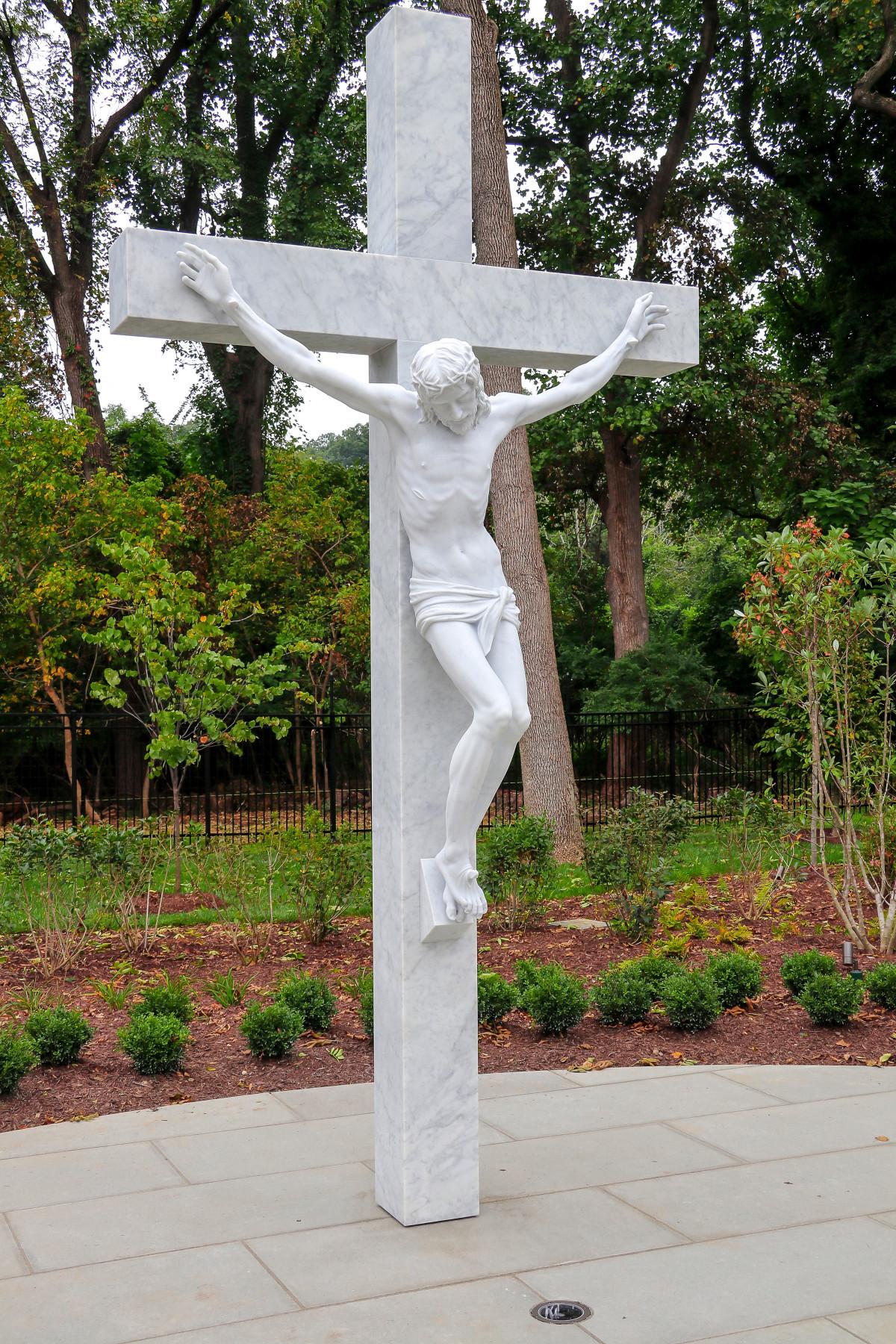 Rosary Walk statue