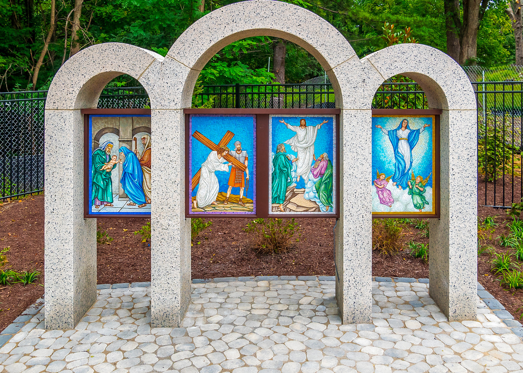 Rosary Walk paintings