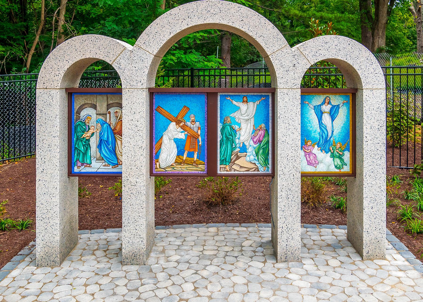 Rosary Walk paintings