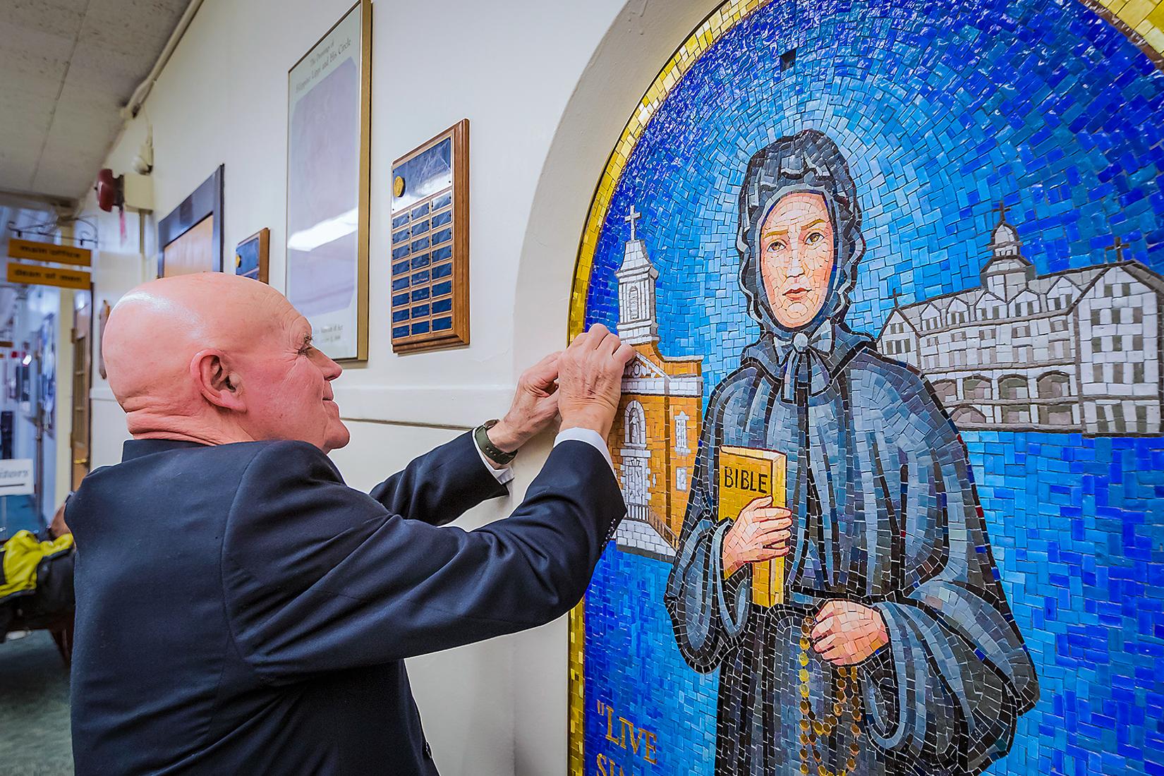 New Mosaic Art for Seton Hall Preparatory School