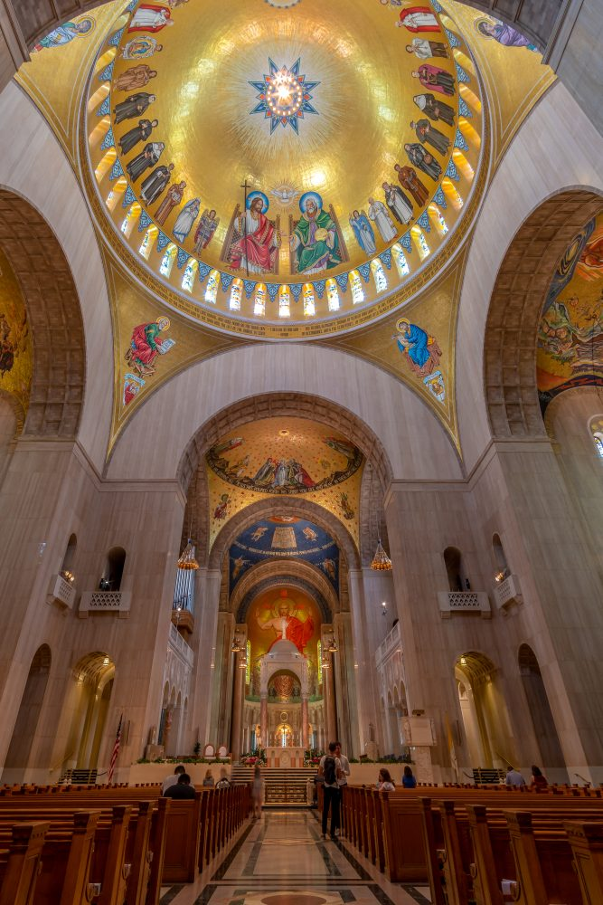 Mosaic for the Trinity Dome for a Catholic Basilica and National Shrine