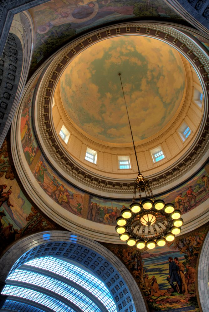 Utah State Capitol Building top view