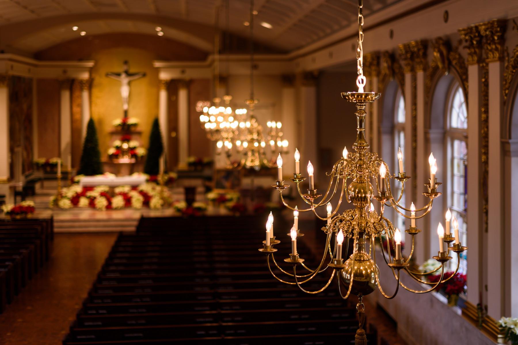 St. Catharine of Siena Allentown lighting