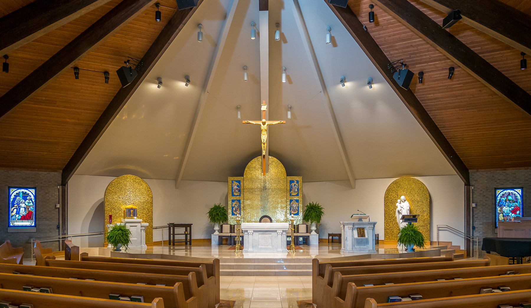 Liturgical Design and Engineered Lighting for Our Lady of Mt. Carmel Catholic Church