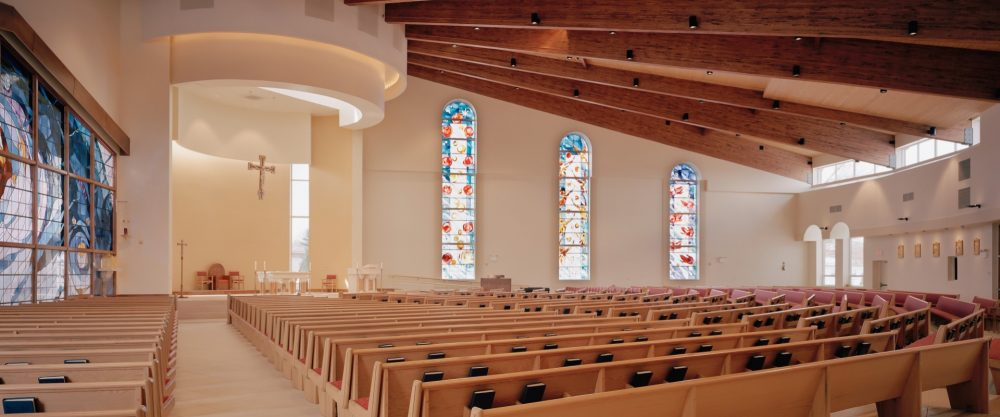 New Stained Glass, Furnishing, and Lighting for a Church Expansion