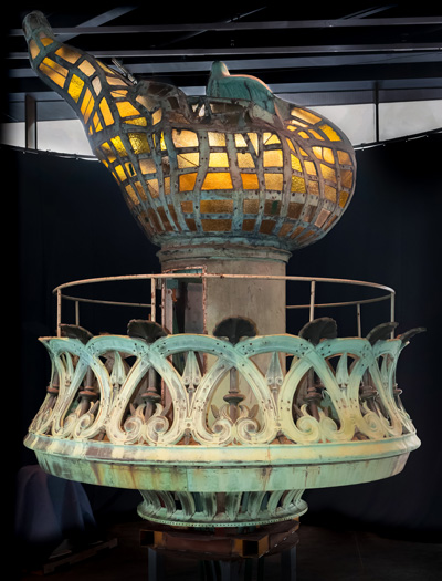 The BBC looks at the Statue of Liberty Torch restoration