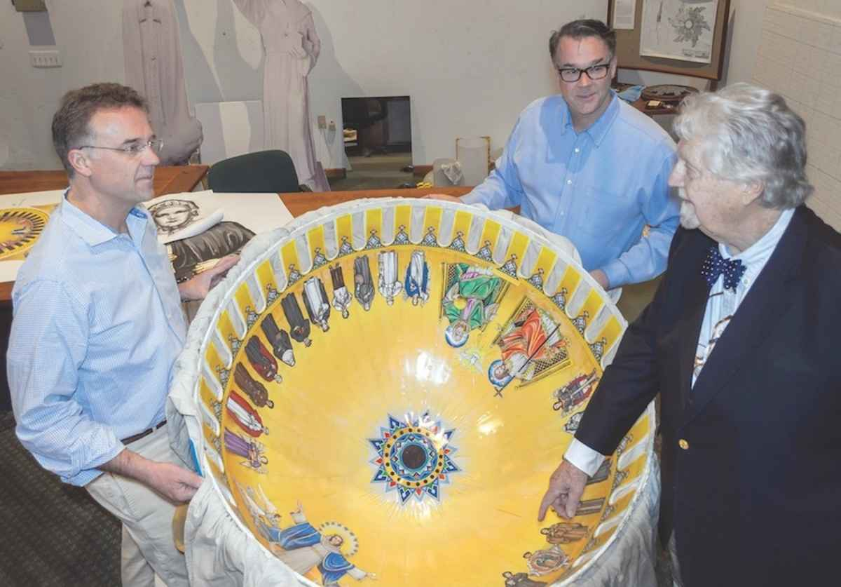 Designing mosaic for massive dome was challenging, say father and son who led effort
