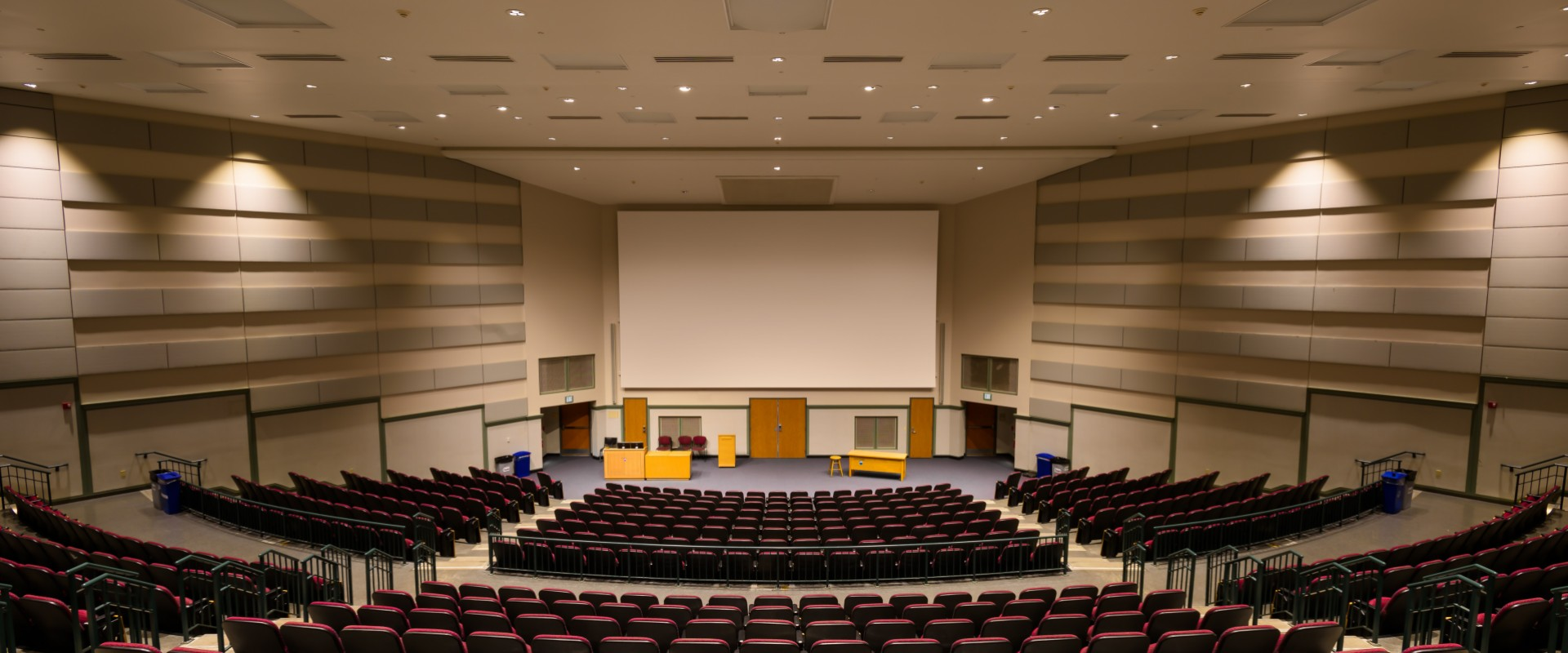 Penn State lecture hall back view