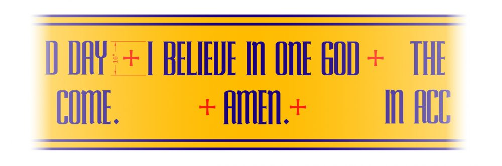 I believe in one god banner
